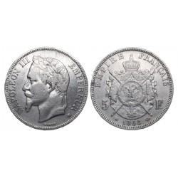 5 francs, 1868. Napoleon III