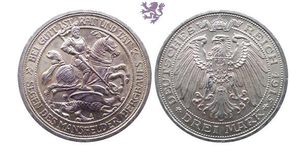 Drei mark 1915.