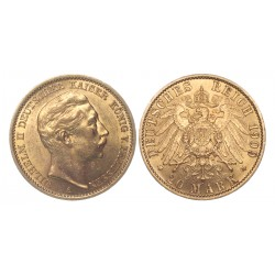 20 mark, 1909. Wilhelm II