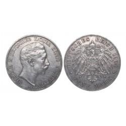 5 mark, 1904. Wilhelm II