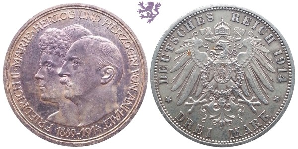 3 mark 1914. Friedrich&Marie