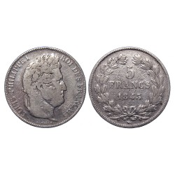 5 francs, 1843.W, Luis Philippe I