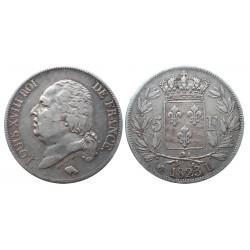 5 francs, 1823. L, Louis XVIII