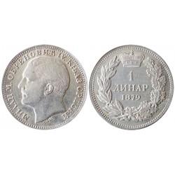 1 dinar, 1879. Milan Obrenović IV