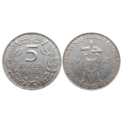5 mark, 1925. 1000th Year of the Rhineland