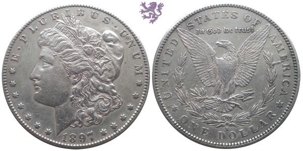 1 dollar, 1897. Morgan dollar
