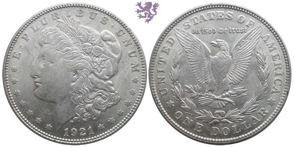 1 dollar, 1921. Morgan dollar