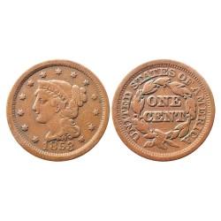 1 cent, 1853.