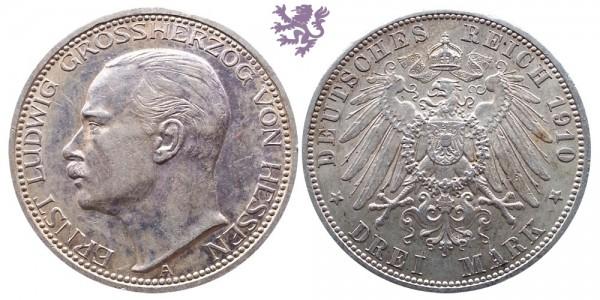 3 Mark, 1910. Ernst Ludwig