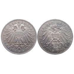 5 mark, 1904. FREIE UND HANSESTADT LÜBECK