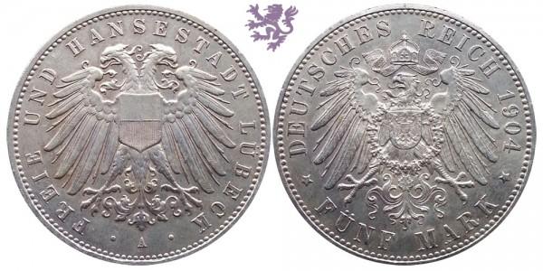 5 mark, 1904. Lubeck