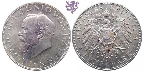 5 mark, 1914. Ludwig III
