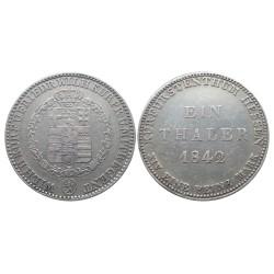 Thaler, 1842. Hessen-Kassel Kurfürst Wilhelm II.Friedrich Wilhelm