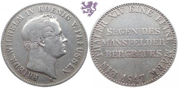 Thaler, 1847, Wilhelm IV
