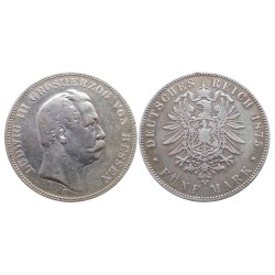 5 mark, 1875. Ludwig III Grosherzog