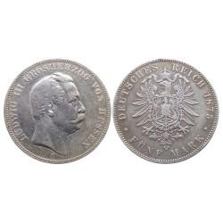 5 mark, 1875. Ludwig III Grosherzog