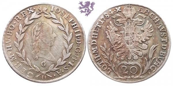 20 krajcra, 1784. Joseph II