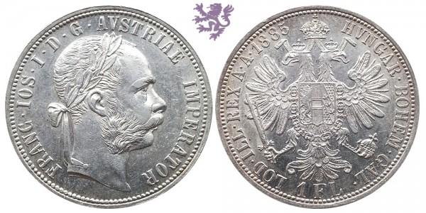1 florin, 1885. Franc Joseph I