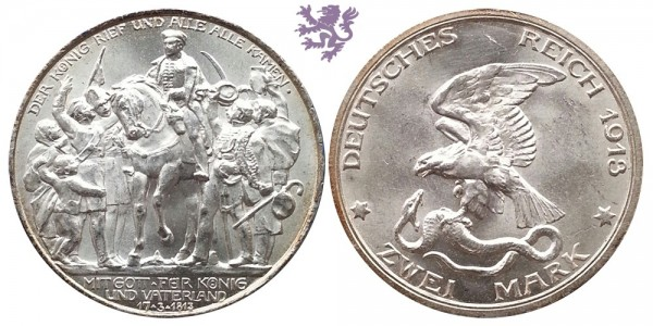 2 mark, 1913. Wilhelm II