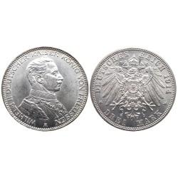 3 mark, 1914. Wilhelm II