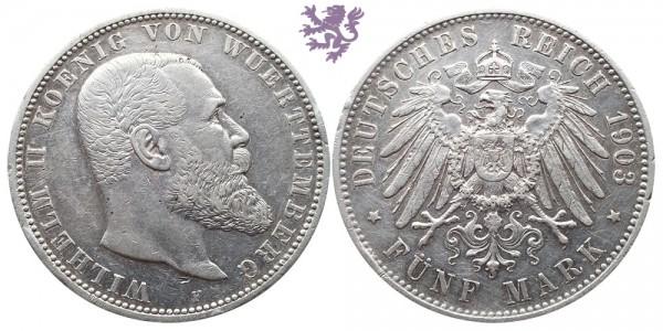 5 mark, 1903. Wilhelm II
