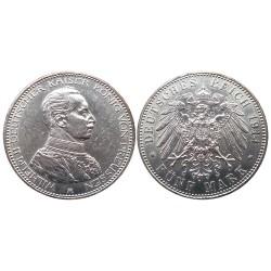 5 mark, 1914. Wilhelm II
