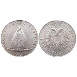 5 schilling, 1934. Magna Mater Austriae