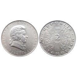 2 schilling, 1931. Wolfgang Amadeus Mozart