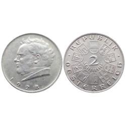 2 schilling, 1928. Franz Schubert