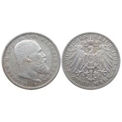 2 mark, 1903. Wilhelm II