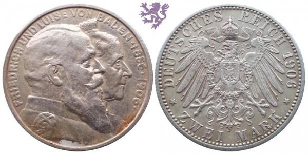 2 mark, 1906. Friedrich und Luise