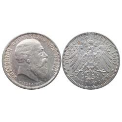 2 mark, 1907. Friedrich Grosherzog