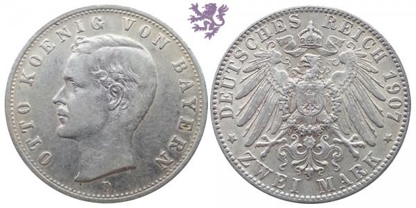 2 mark, 1907. Otto Koenig Von Bayern