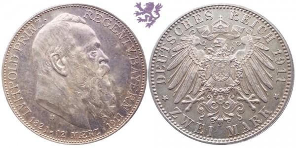 2 mark, 1911. Luitpold Prinz