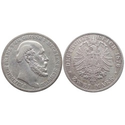 2 mark, 1876. Friedrich Franz