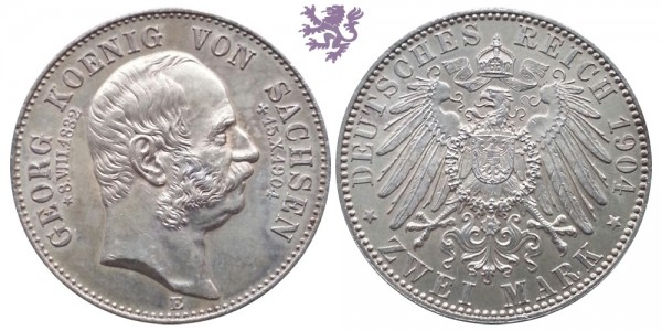 2 mark, 1904. Georg Koenig commemorative