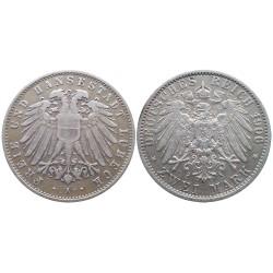 2 mark, 1906. Lübeck