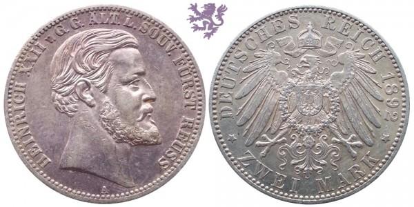 2 mark, 1892. Heinrich XII