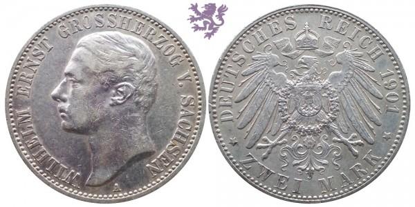 2 mark, 1901. Wilhelm Ernst