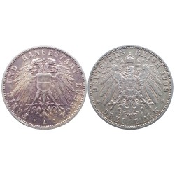3 mark, 1909. Lübeck