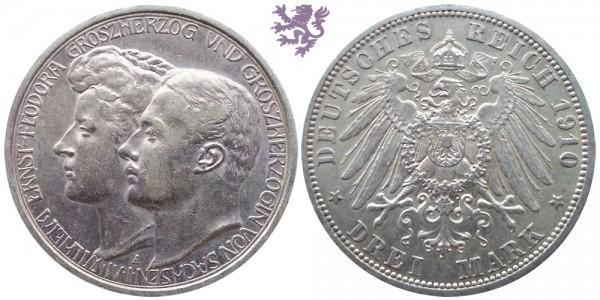 3 mark, 1910. Wilheim&Feodora