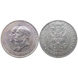 3 mark, 1911. Wilhelm II&Wilhelm III
