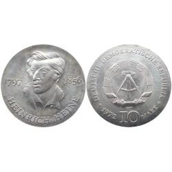 10 mark, 1972. Heinrich Heine
