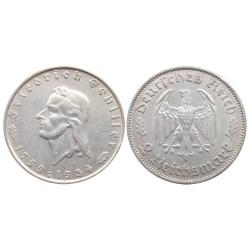 2 Reichsmark, 1934. Friedrich Schiller