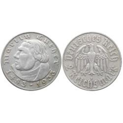 2 Reichsmark, 1933. Martin Luther