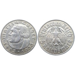 5 Reichsmark, 1933. Martin Luther