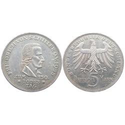 5 mark, 1955. Friedrich Schiller