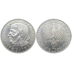 5 mark, 1964. Johann Gottlieb Fichte