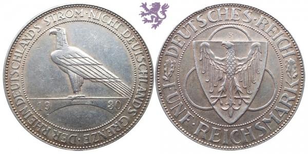 5 Reichsmark, 1930. Liberation of Rhineland