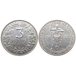 3 Reichsmark, 1925. Rheinlande